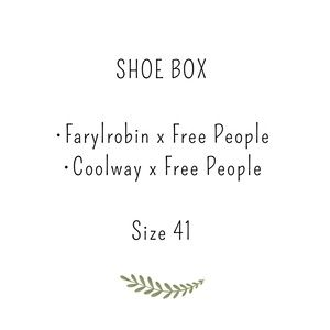 Shoe box, Coolway x FP and Farylrobin x FP